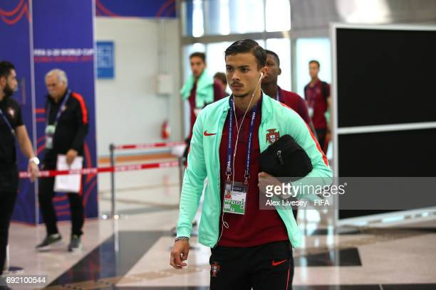 Diogo Goncalves of Portugal arrives for the FIFA U20 World Cup Korea Republic 2017 Quarter Final match between Portugal and Uruguay at Daejeon World...