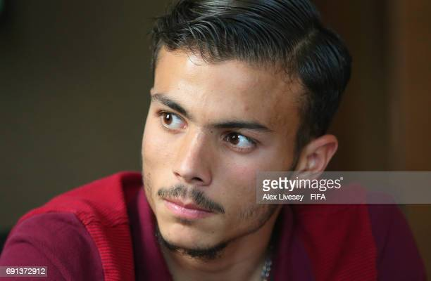 Diogo Goncalves of Portugal is seen during an interview at the Lotte City Hotel during the FIFA U20 World Cup on June 2 2017 in Daejeon South Korea