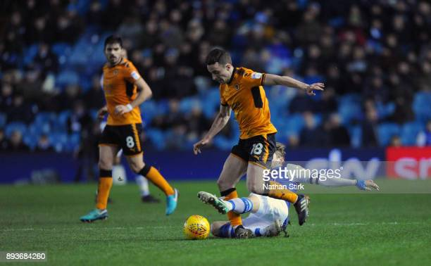 Diogo Jose Teixeira da Silva of Wolves in action during the Sky Bet Championship match between Sheffield Wednesday and Wolverhampton at Hillsborough...