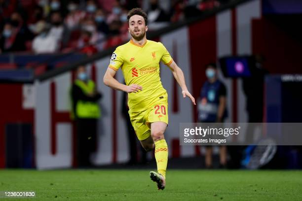 Diogo Jota of Liverpool FC during the UEFA Champions League match between Atletico Madrid v Liverpool at the Estadio Wanda Metropolitano on October...