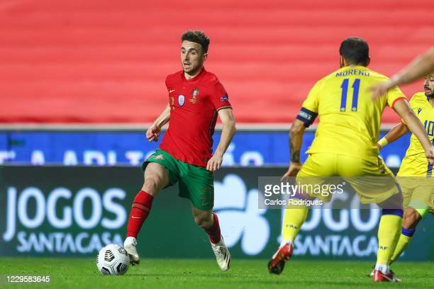 Diogo Jota of Portugal and Liverpool FC during the international friendly match between Portugal and Andorra at Estadio da Luz on November 11, 2020...