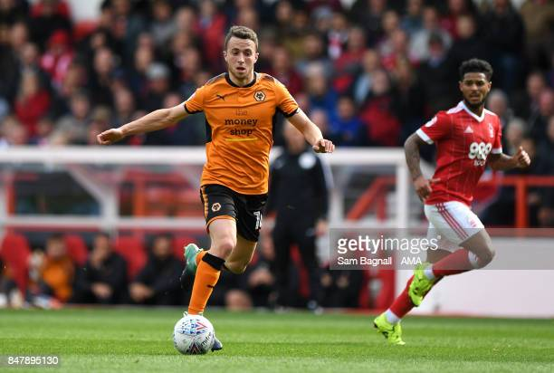 Diogo Jota of Wolverhampton Wanderers during the Sky Bet Championship match between Nottingham Forest and Wolverhampton at City Ground on September...