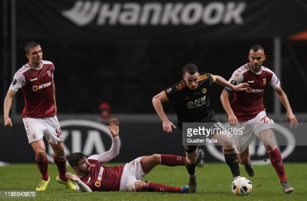 Diogo Jota of Wolverhampton Wanderers in action during the Group K UEFA Europa League match between SC Braga and Wolverhampton Wanderers at Estadio...