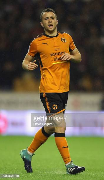 Diogo Jota of Wolverhampton Wanderers looks on during the Sky Bet Championship match between Wolverhampton Wanderers and Bristol City at Molineux on...