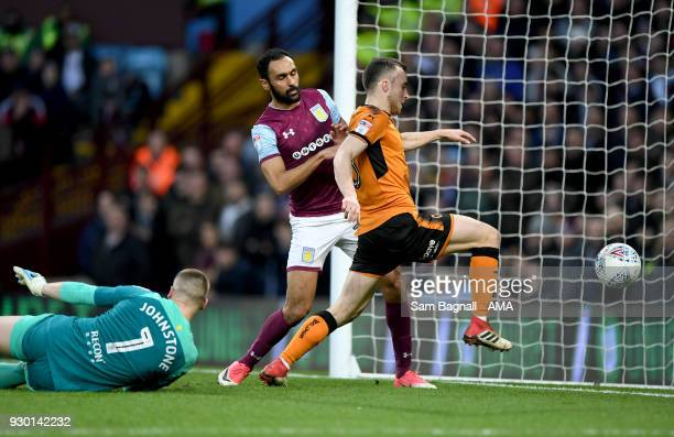 Diogo Jota of Wolverhampton Wanderers scores a goal to make it 11 during the Sky Bet Championship match between Aston Villa and Wolverhampton...