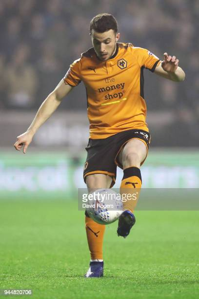 Diogo Jota of Wolverhampton Wanderers scores his sides first goal during the Sky Bet Championship match between Wolverhampton Wanderers and Derby...