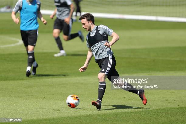 Diogo Jota of Wolverhampton Wanderers takes part during a training session during the Coronavirus COVID19 lockdown at Sir Jack Hayward Training...