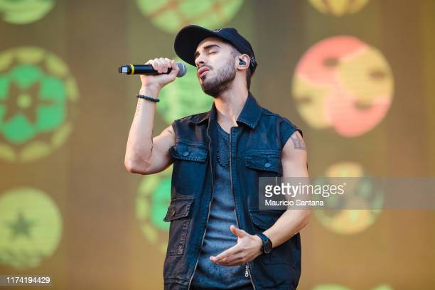Diogo Melim of Melim performs live on stage during day 7 of Rock In Rio Music Festival at Cidade do Rock on October 6 2019 in Rio de Janeiro Brazil