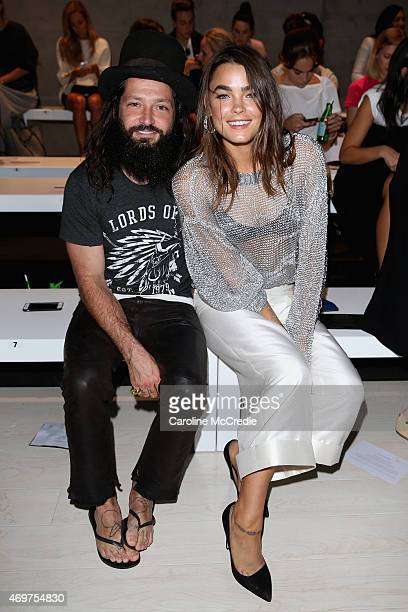 Dion Anthony and Bambi NorthwoodBlyth attend the Bianca Spender show at MercedesBenz Fashion Week Australia 2015 at Carriageworks on April 15 2015 in...