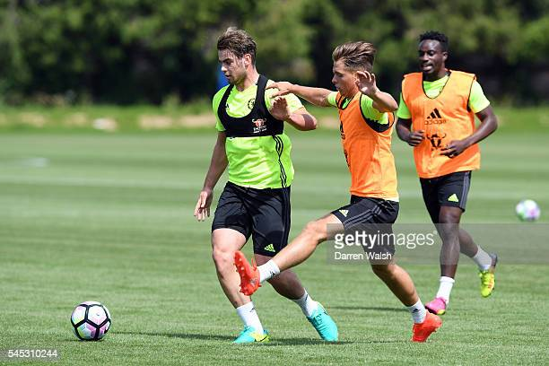 Dion Conroy Charlie Colkett at Chelsea Training Ground on July 6 2016 in Cobham England