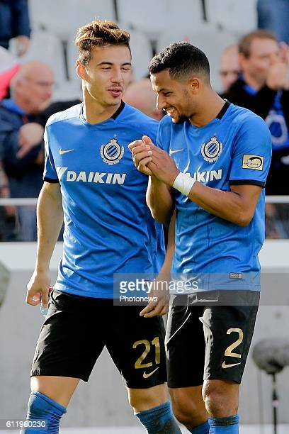Dion Cools defender of Club Brugge and Ricardo Van Rhijn defender of Club Brugge pictured during Jupiler Pro League match between Club Brugge KV and...