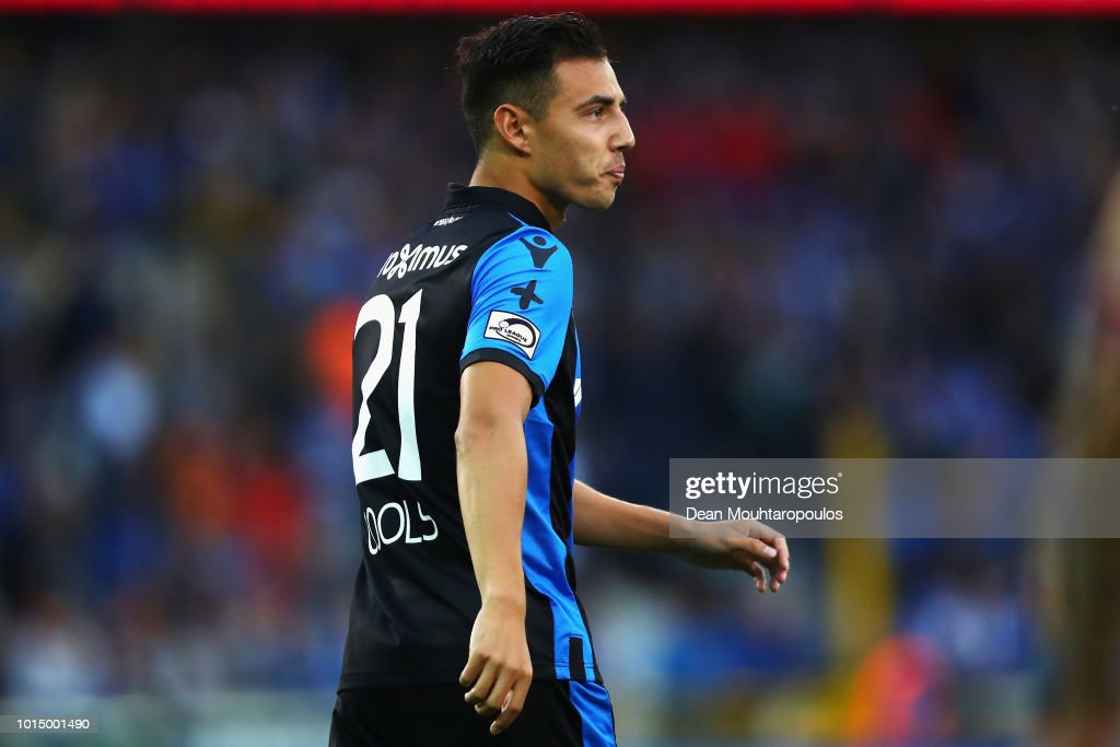 Dion Cools of Club Brugge KV looks on during the Jupiler Pro League match between Club Brugge and KV Kortrijk at Jan Breydel Stadium on August 10, 2018 in Brugge, Belgium.