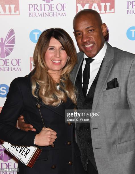 Dion Dublin and Louise Dublin attend the Pride Of Birmingham Awards 2018 at University of Birmingham on March 8 2018 in Birmingham England