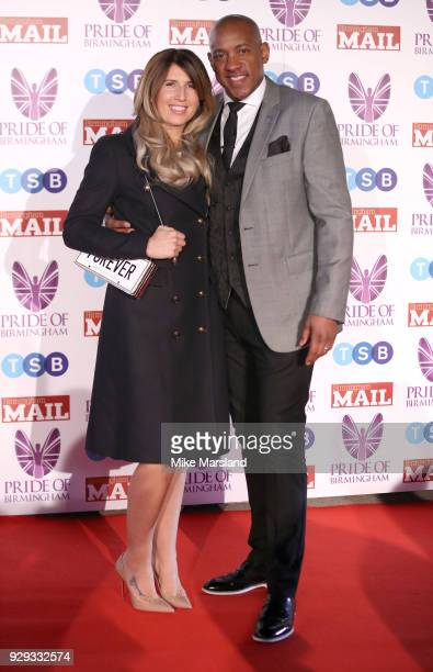 Dion Dublin arrives at the Pride Of Birmingham Awards 2018 at University of Birmingham on March 8 2018 in Birmingham England