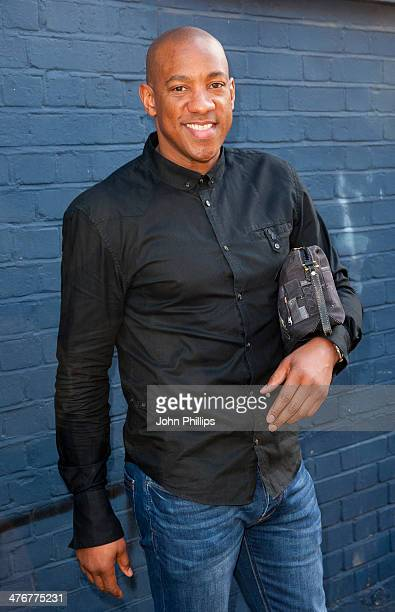 Dion Dublin arrives to film a sketch for Sport Relief at Sarm Studios on March 5 2014 in London England