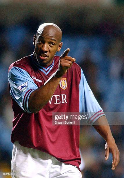 Dion Dublin of Aston Villa in protests against a decision during the FA Barclaycard Premiership match between Aston Villa and Fulham on November 9...