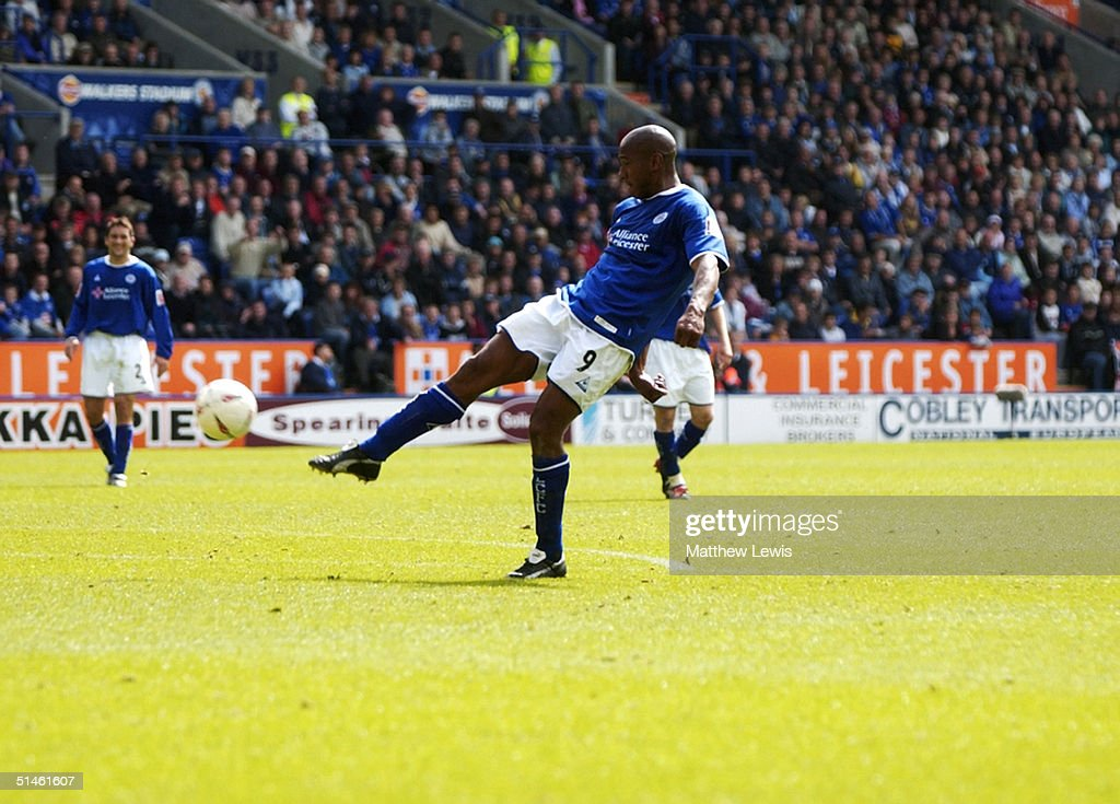 Dion Dublin of Leicester City during the Coca-Cola Championship match between Leicester City and Brighton and Hove Albion at the Walkers Stadium on August 30, 2004 in Leicester, England.