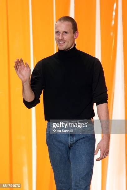 Dion Lee attends the Dion Lee runway at New York Fashion Week The Shows at Skylight Clarkson Sq on February 11 2017 in New York City