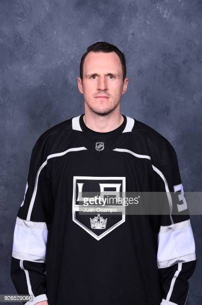 Dion Phaneuf of the Los Angeles Kings poses for a headshot before a game against the Columbus Blue Jackets at STAPLES Center on March 1 2018 in Los...