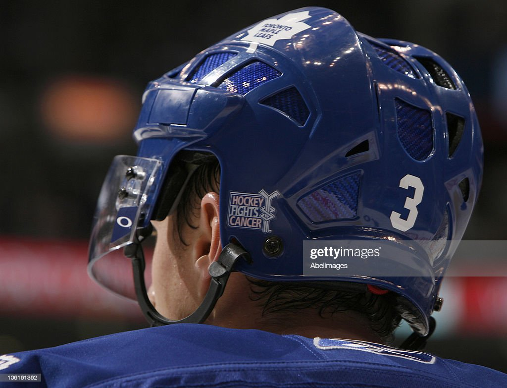 new style a0d4a bb4f9 Dion Phaneuf of the Toronto Maple Leafs wears Hockey Fights ...