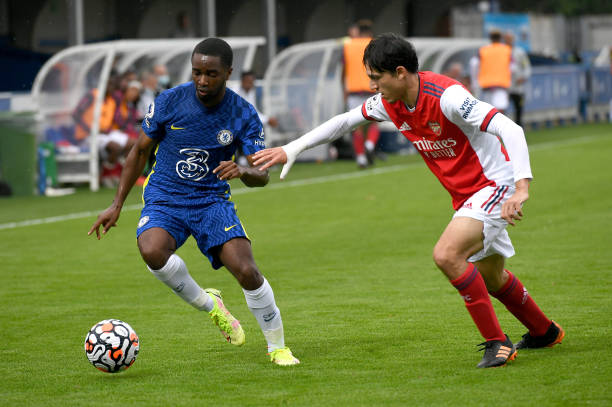 Dion Rankine of Chelsea during the Chelsea v Arsenal Premier League 2 match on September 19, 2021 in London, England.