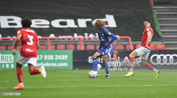 Dion Sanderson of Cardiff City FC during the Sky Bet Championship match between Bristol City and Cardiff City at Ashton Gate on July 4 2020 in...