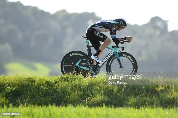 Dion Smith of New Zealand and Team BikeExchange during the 100th Volta Ciclista a Catalunya 2021, Stage 2 a 18,5km Individual Time Trial stage from...
