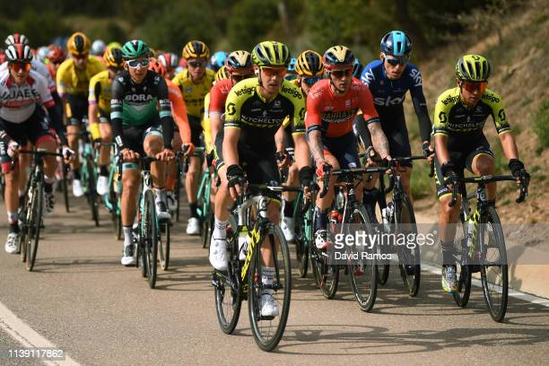 Dion Smith of New Zealand and Team Mitchelton - Scott / Christian Knees of Germany and Team Sky / Johan Esteban Chaves Rubio of Colombia and Team...