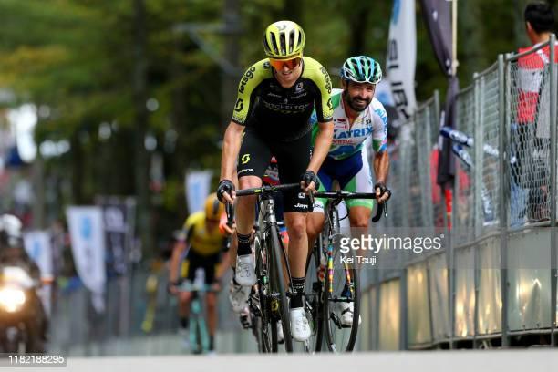 Dion Smith of New Zealand and Team Mitchelton - Scott / Francisco Mancebo Perez of Spain and Team Matrix Powertag / during the 28th Japan Cup 2019,...