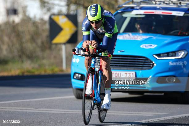 Dion Smith of Wanty Groupe Gobert during the 3rd stage of the cycling Tour of Algarve between Lagoa and Lagoa on February 16 2018