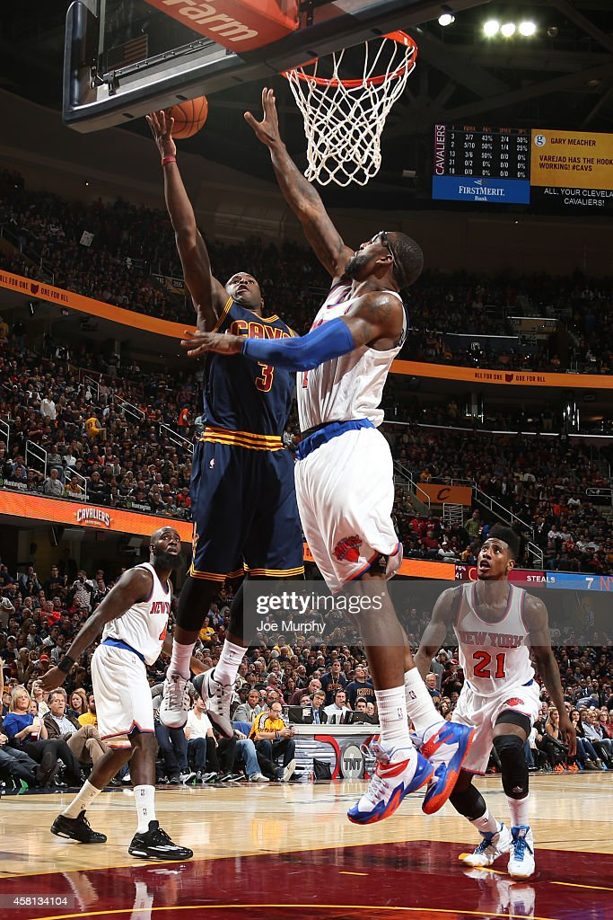 Dion Waiters #3 of the Cleveland Cavaliers shoots against the New York Knicks on October 30, 2014 in Cleveland, Ohio.