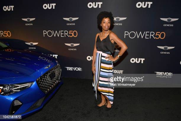 Diona Reasonover attends OUT Magazine's Power 50 Award Celebration Presented By Genesis at NeueHouse Los Angeles on September 27 2018 in Hollywood...