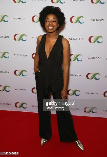 Diona Reasonover attends the ClexaCon 2019 convention at the Tropicana Las Vegas on April 13 2019 in Las Vegas Nevada