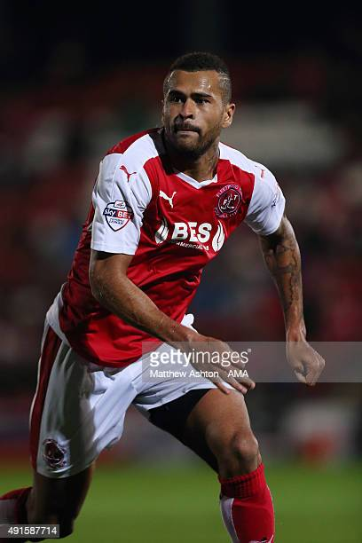 Dionatan Teixeira of Fleetwood Town during the Johnstone's Paint Trophy Second Round match between Fleetwood Town and Shrewsbury Town at Highbury...