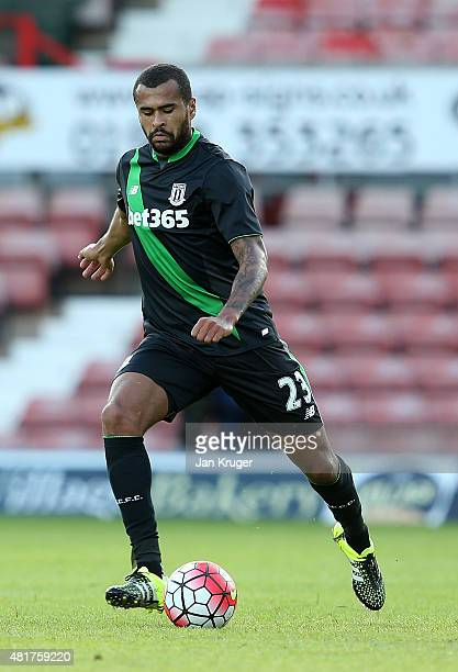Dionatan Teixeira of Stoke City during the pre season friendly match between Wrexham and Stoke City at Racecourse Ground on July 22 2015 in Wrexham...