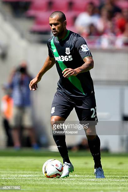 Dionatan Teixeira of Stoke City runs with the ball during the Colonia Cup 2015 match between 1 FC Koeln and Stoke City FC at RheinEnergieStadion on...
