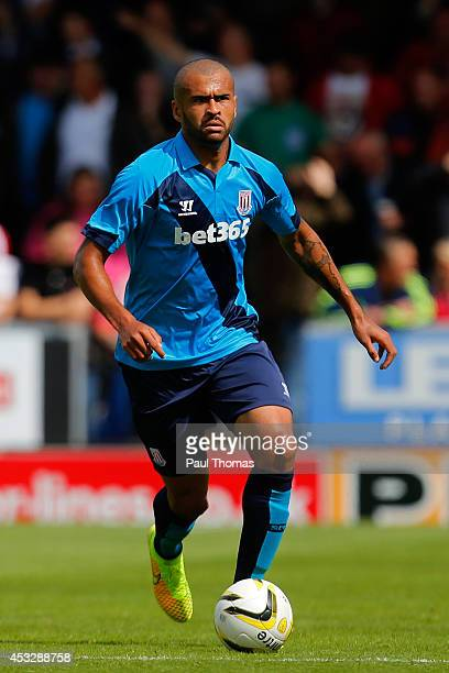 Dionatan Teixeira of Stoke in action during the Pre Season Friendly match between Burton Albion and Stoke City at the Pirelli Stadium on August 2...