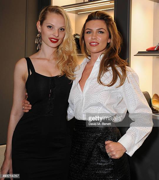 Dioni Tabbers and Abby Clanc attend the unveiling of Mount Street as Gina celebrates 60 years on May 22 2014 in London England