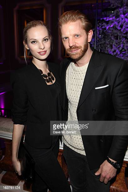 Dioni Tabbers and Alistair Guy attend Patrick Hellmann Store Launch and Collection Preview in 50 St James Street on March 14 in London England