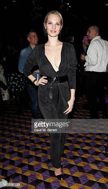 Dioni Tabbers attends an after party following the 'Welcome To The Punch' UK Premiere at the Hippodrome Casino on March 5 2013 in London England