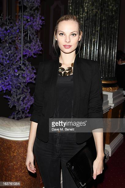 Dioni Tabbers attends Patrick Hellmann Store Launch and Collection Preview in 50 St James Street on March 14 in London England