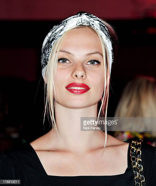 Dioni Tabbers attends the Lulu Guinness Paint Project party at Old Sorting Office on July 11 2013 in London England