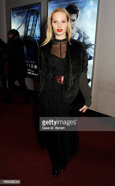 Dioni Tabbers attends the UK Premiere of 'Oblivion' at BFI IMAX on April 4 2013 in London England
