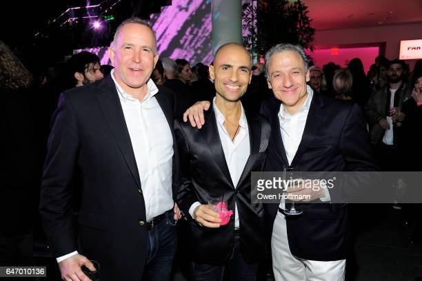 Dionisio Fontana Simeone Scaramozzino and Dionisio Cimarelli attend The Armory Party at Museum of Modern Art on March 1 2017 in New York City
