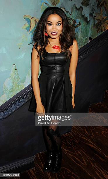 Dionne Bromfield attends Claire's Halloween Party featuring a secret performance by Union J at Sketch on October 22 2013 in London England