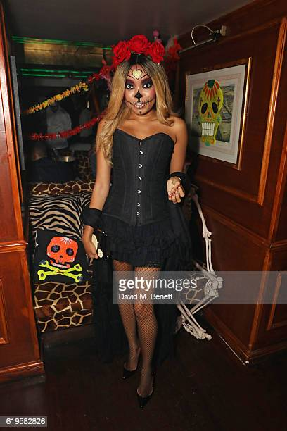 Dionne Bromfield attends Fran Cutler's Halloween Party supported by Belvedere Vodka at Albert's Club on October 31 2016 in London England
