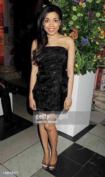 Dionne Bromfield attends Jonathan Shalit's 50th birthday party at The VA on April 17 2012 in London England
