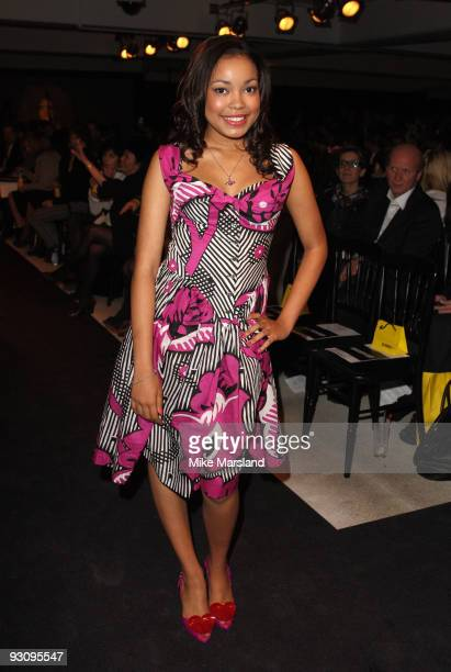 Dionne Bromfield attends the Anglomania show by Vivienne Westwood at Selfridges on November 16 2009 in London England