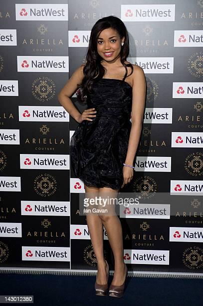 Dionne Bromfield attends the Ariella Couture fashion show at 250 Bishopsgate on April 17 2012 in London England