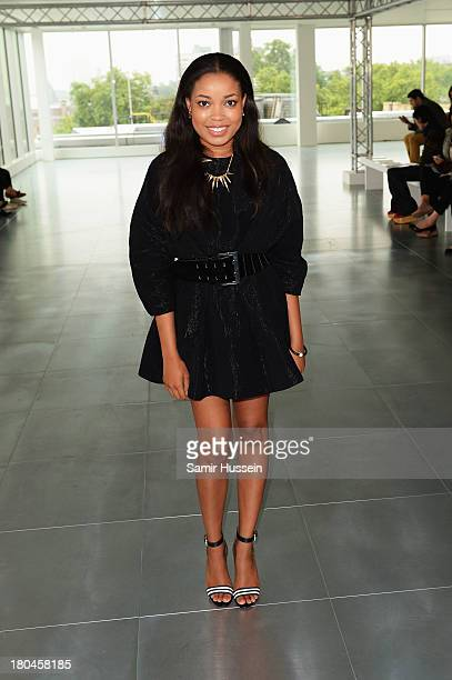 Dionne Bromfield attends the Fyodor Golan show during London Fashion Week SS14 at 280 High Holborn on September 13 2013 in London England
